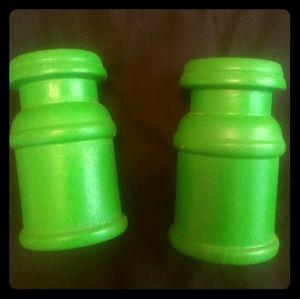 Vintage Wooden Salt & Pepper Shakers